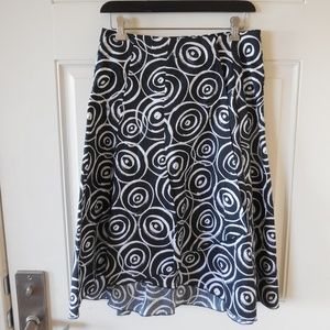 Ideology A-Line Wrap Skirt Black/White Geometric